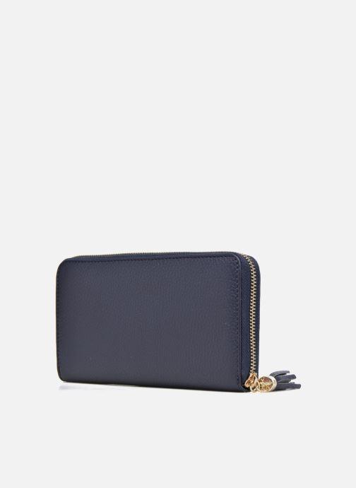 Petite Maroquinerie Le Tanneur CAPUCINE Porte-monnaie long zippé Bleu vue droite