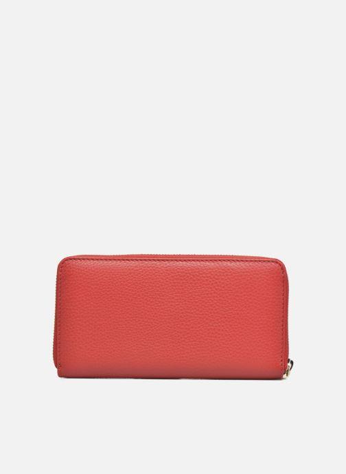Petite Maroquinerie Le Tanneur CAPUCINE Porte-monnaie long zippé Rouge vue face