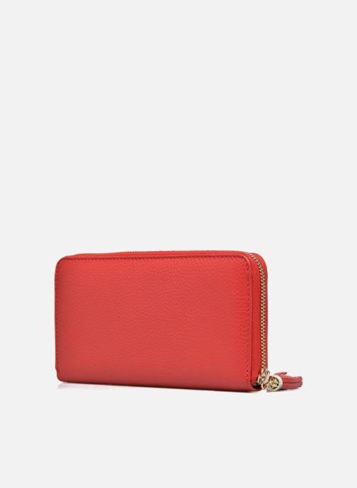 Petite Maroquinerie Le Tanneur CAPUCINE Porte-monnaie long zippé Rouge vue droite