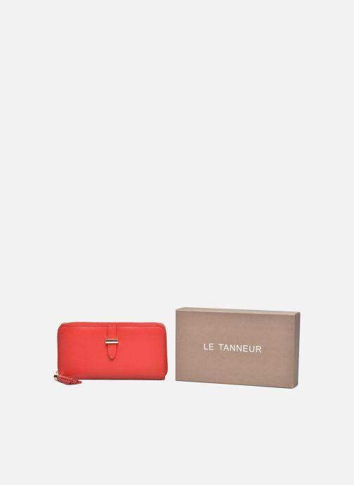 Petite Maroquinerie Le Tanneur CAPUCINE Porte-monnaie long zippé Rouge vue détail/paire