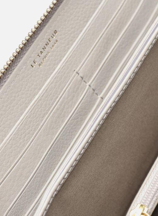 Kleine lederwaren Le Tanneur CAPUCINE Porte-monnaie long zippé Grijs achterkant