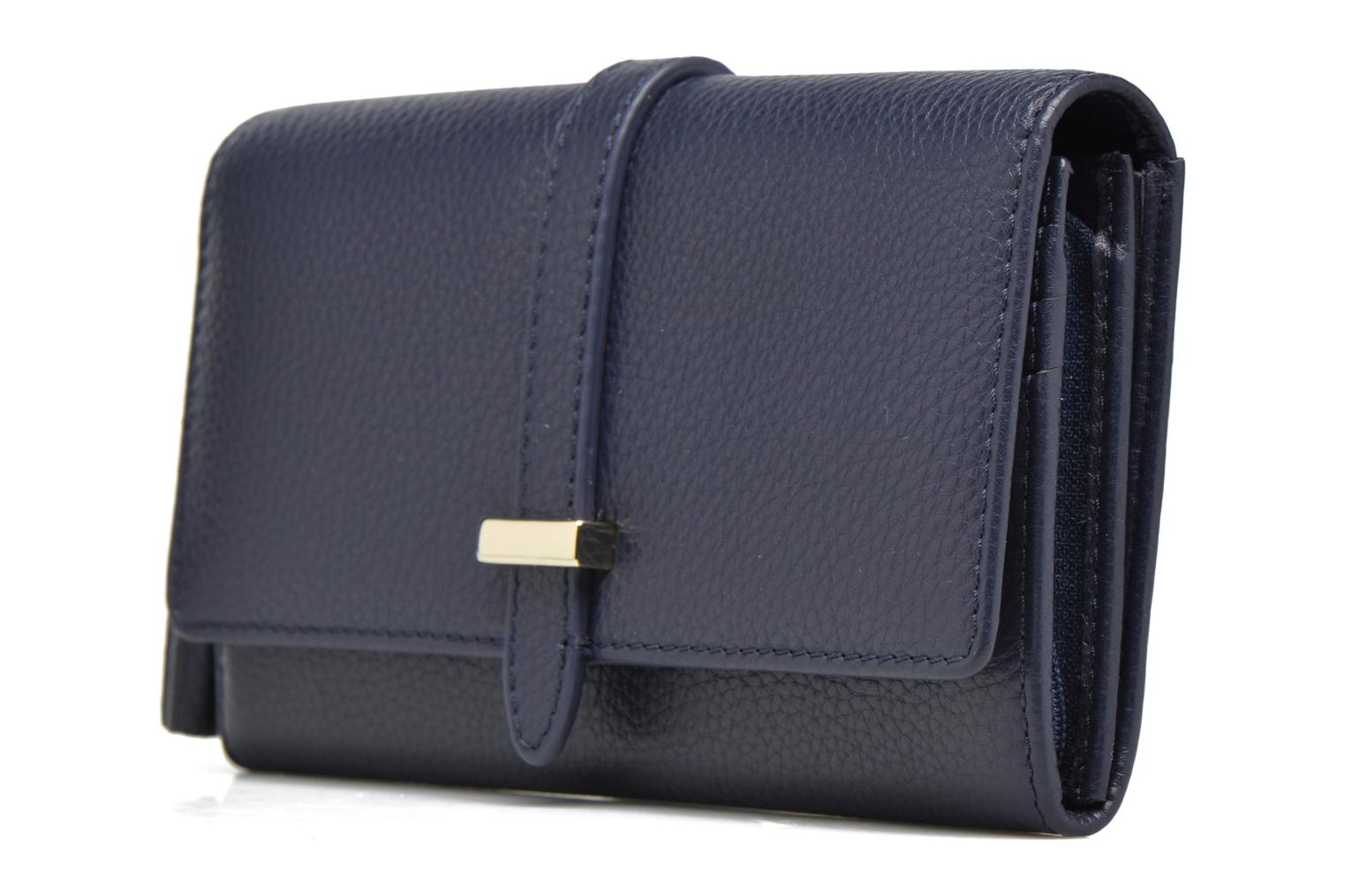 Wallets & cases Le Tanneur CAPUCINE Porte-monnaie long Blue model view