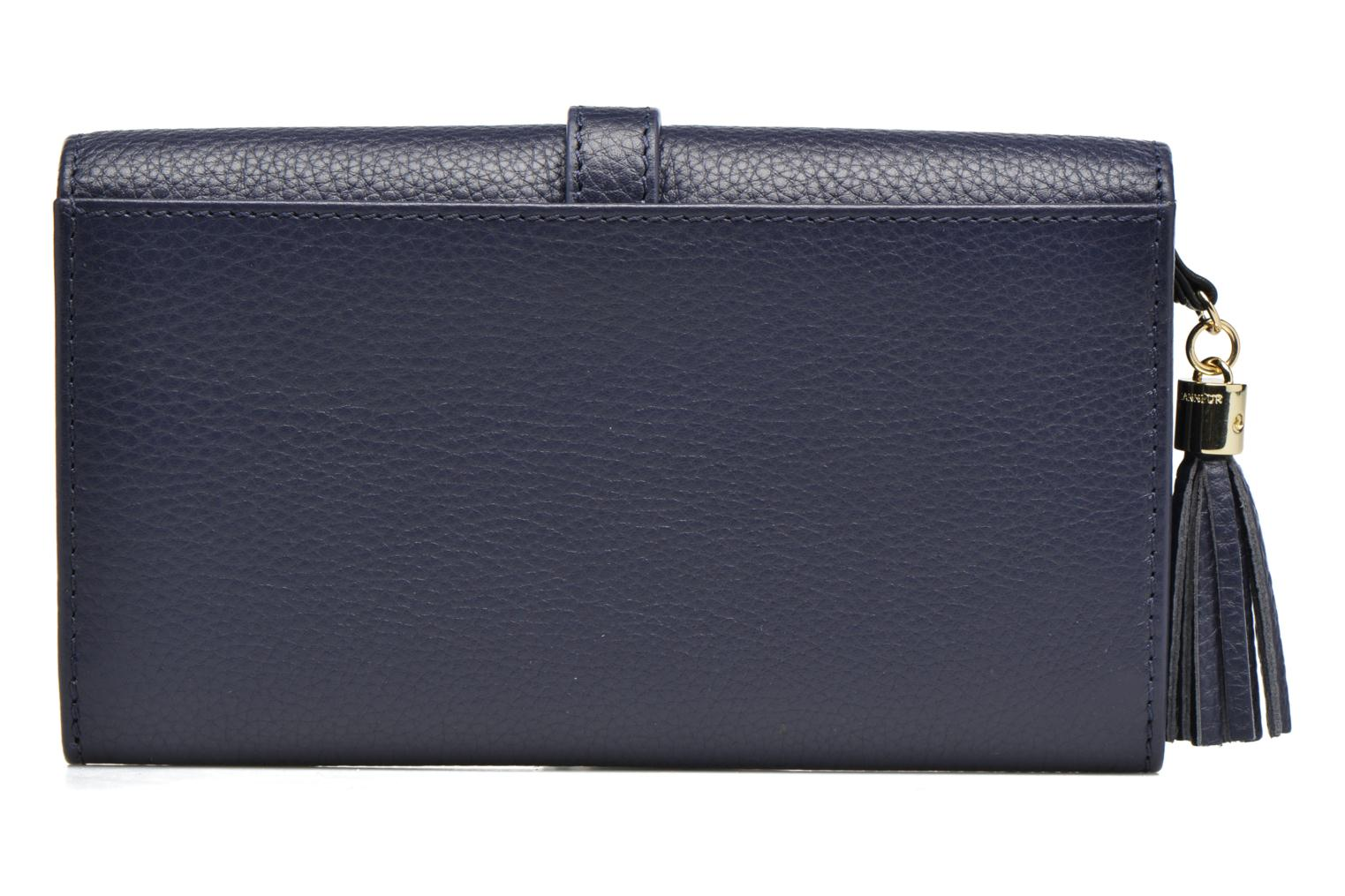 Wallets & cases Le Tanneur CAPUCINE Porte-monnaie long Blue front view