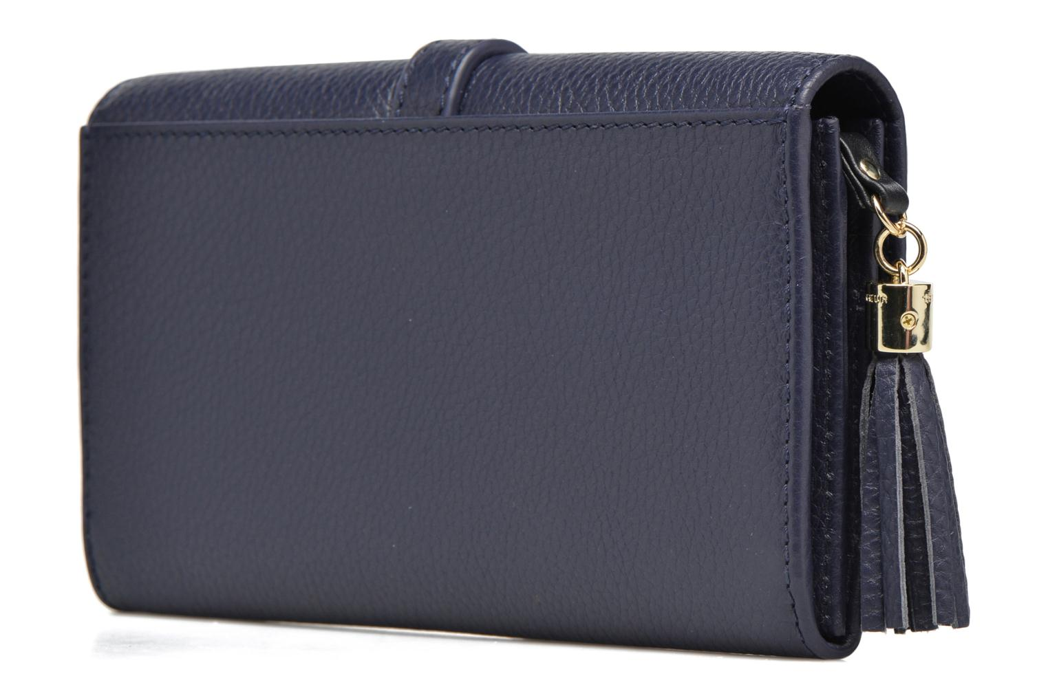 Wallets & cases Le Tanneur CAPUCINE Porte-monnaie long Blue view from the right