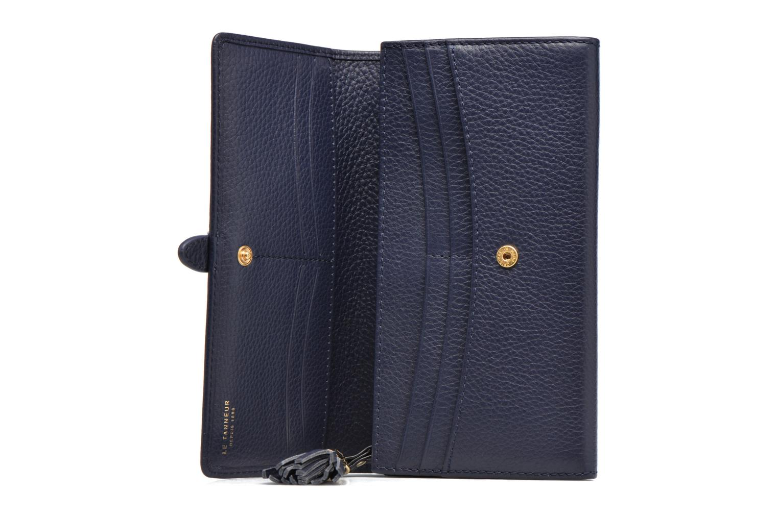 Wallets & cases Le Tanneur CAPUCINE Porte-monnaie long Blue back view