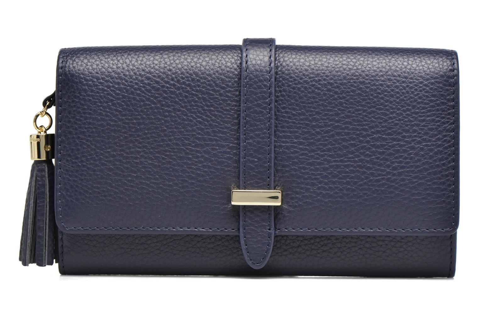 Wallets & cases Le Tanneur CAPUCINE Porte-monnaie long Blue view from the left