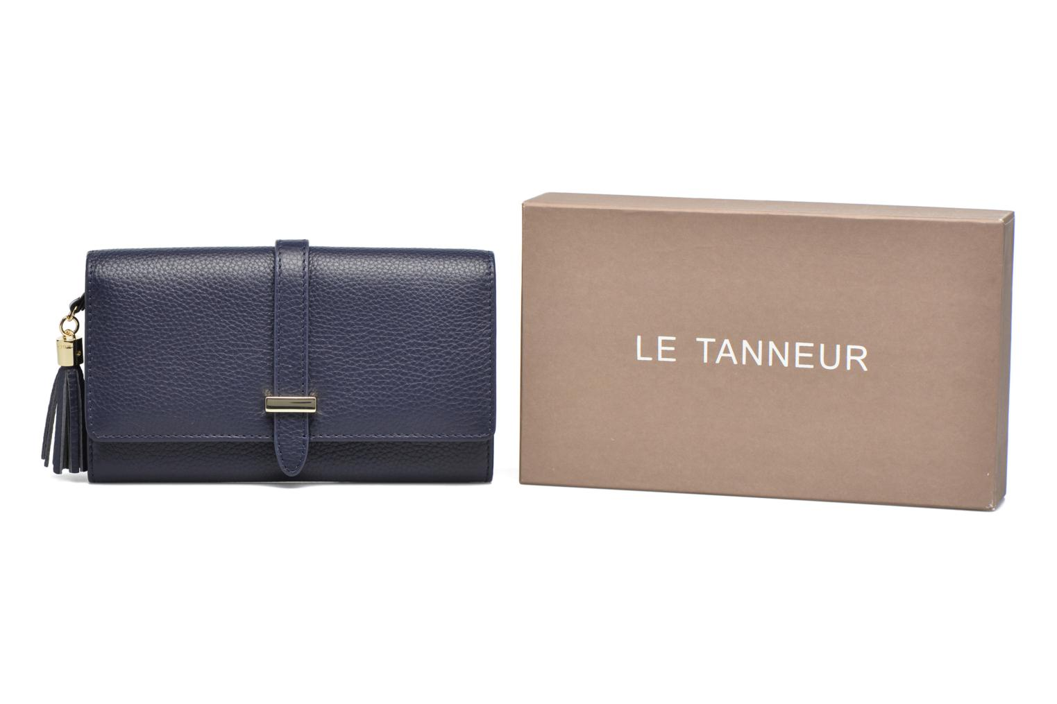 Wallets & cases Le Tanneur CAPUCINE Porte-monnaie long Blue detailed view/ Pair view
