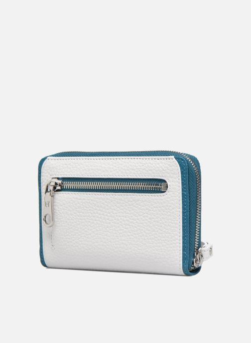 Petite Maroquinerie Le Tanneur AGATHE Porte-monnaie zippé téléphone Blanc vue droite