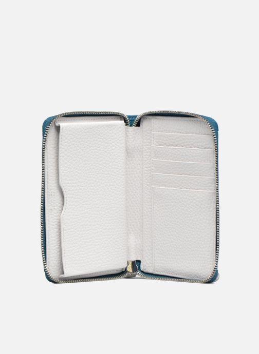 Petite Maroquinerie Le Tanneur AGATHE Porte-monnaie zippé téléphone Blanc vue derrière