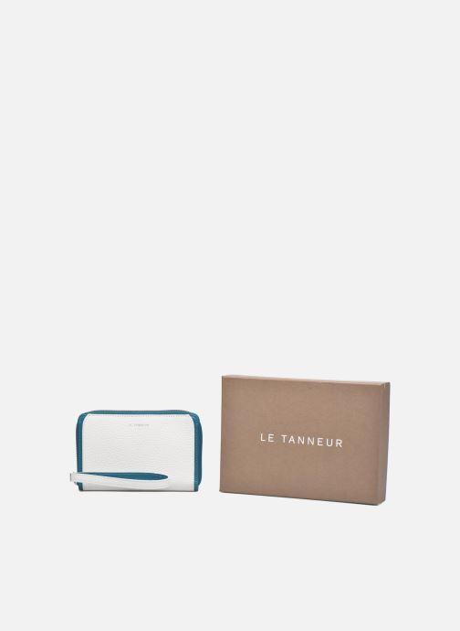 Petite Maroquinerie Le Tanneur AGATHE Porte-monnaie zippé téléphone Blanc vue détail/paire