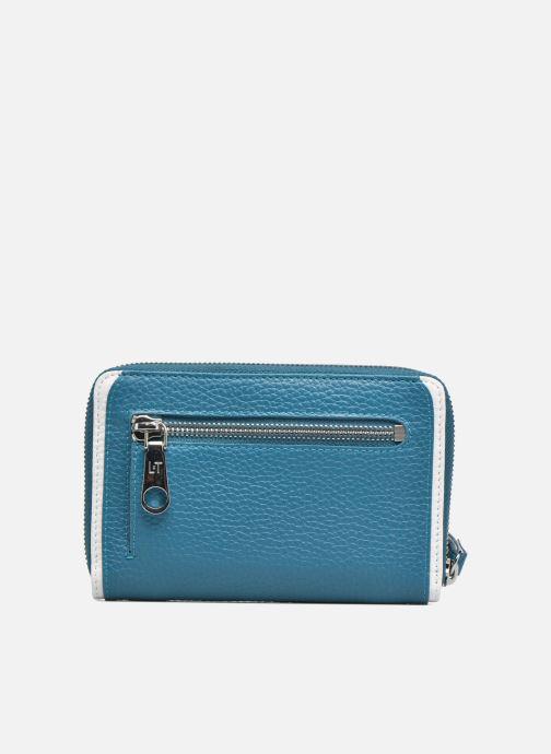 Petite Maroquinerie Le Tanneur AGATHE Porte-monnaie zippé téléphone Bleu vue face