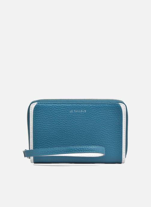 Petite Maroquinerie Le Tanneur AGATHE Porte-monnaie zippé téléphone Bleu vue gauche