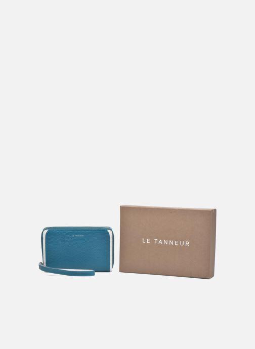 Kleine lederwaren Le Tanneur AGATHE Porte-monnaie zippé téléphone Blauw detail