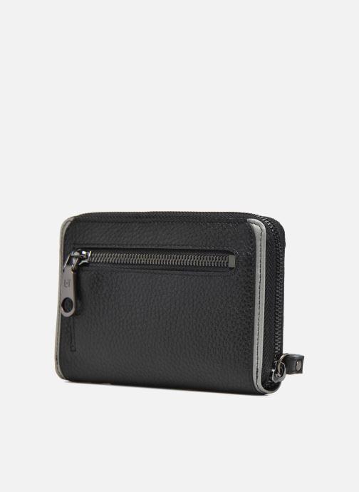 Petite Maroquinerie Le Tanneur AGATHE Porte-monnaie zippé téléphone Noir vue droite