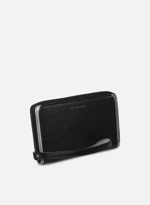Petite Maroquinerie Le Tanneur AGATHE Porte-monnaie zippé téléphone Noir vue bas / vue portée sac