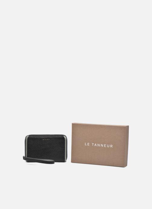 Petite Maroquinerie Le Tanneur AGATHE Porte-monnaie zippé téléphone Noir vue détail/paire