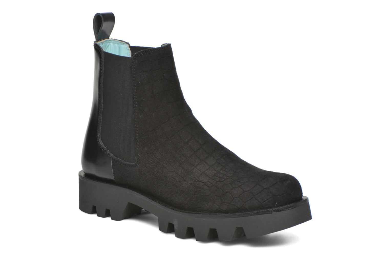 Ankelstøvler Apologie Roger Sort detaljeret billede af skoene