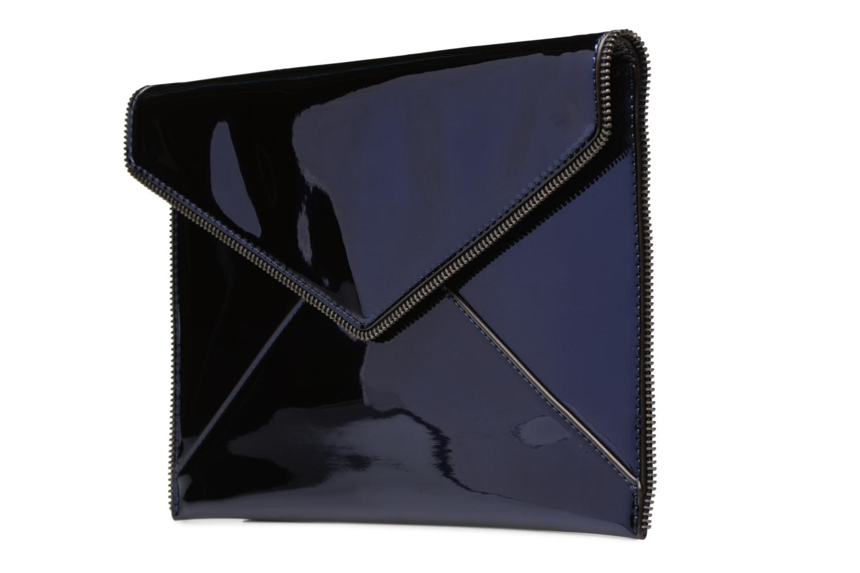 Sacs pochettes Rebecca Minkoff MIRRORED METALLIC LEO CLUTCH Bleu vue portées chaussures