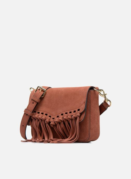Sacs à main Rebecca Minkoff RAPTURE SMALL SHOULDER BAG Marron vue portées chaussures