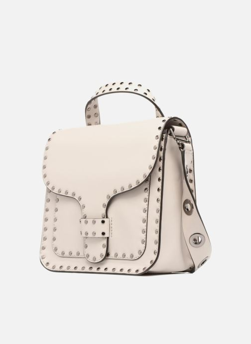 Sacs à main Rebecca Minkoff MIDNIGHTER TOP HANDLE FEED Gris vue portées chaussures
