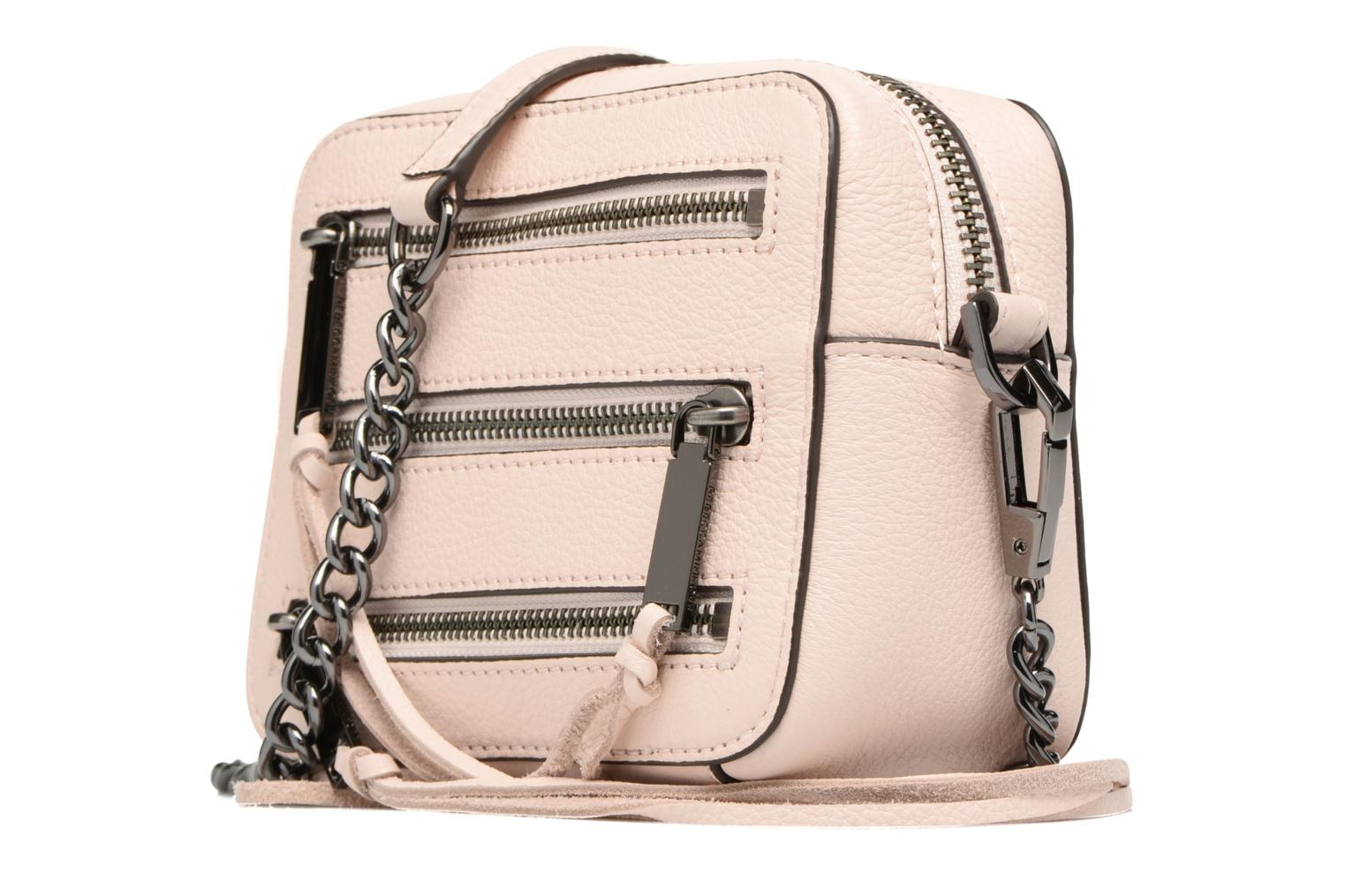 Handbags Rebecca Minkoff 4 ZIP MOTO CAMERA BAG Pink model view