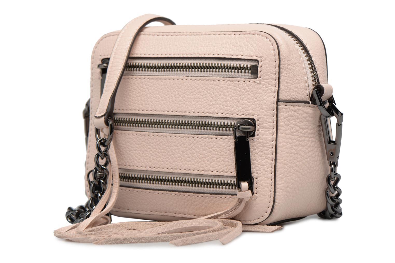 Handtaschen Rebecca Minkoff 4 ZIP MOTO CAMERA BAG rosa schuhe getragen