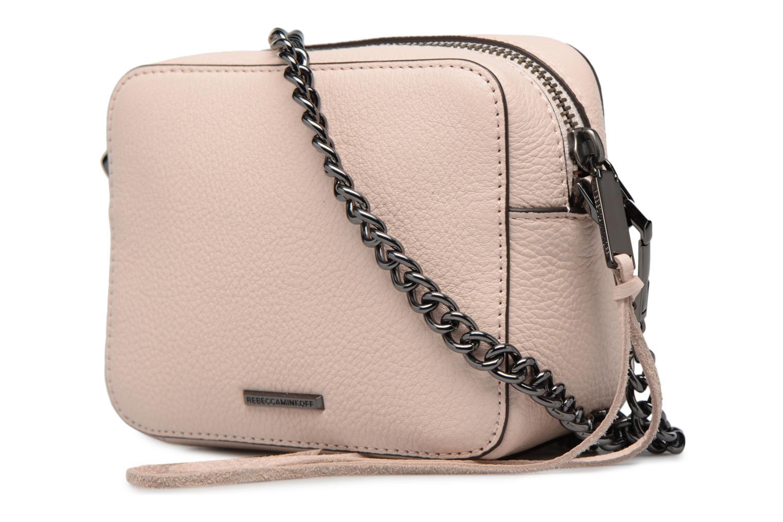 Handtaschen Rebecca Minkoff 4 ZIP MOTO CAMERA BAG rosa ansicht von rechts