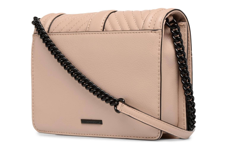 Handtaschen Rebecca Minkoff CHEVRON QUILTED SMALL LOVE CRO beige ansicht von rechts