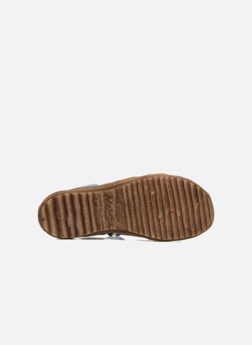 Sandales et nu-pieds Naturino See Bleu vue haut