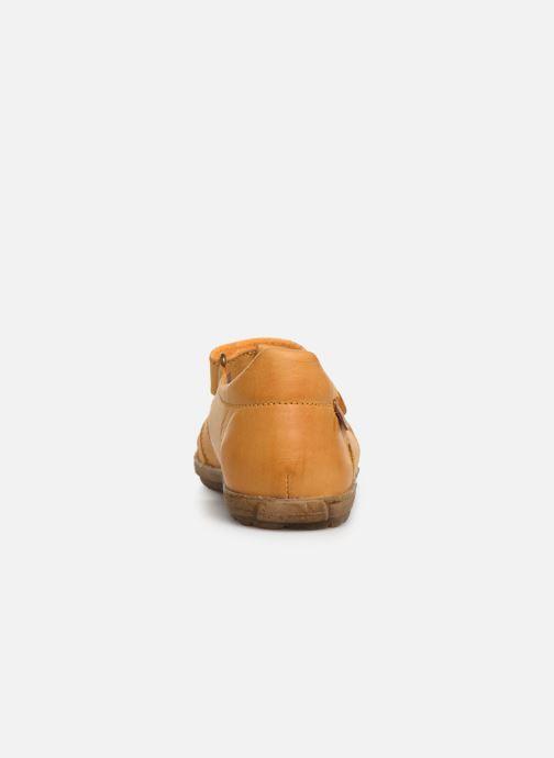 Sandales et nu-pieds Naturino See Jaune vue droite