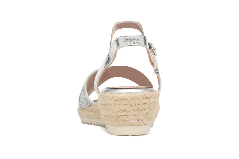 Sandales et nu-pieds Xti Aldana Argent vue droite