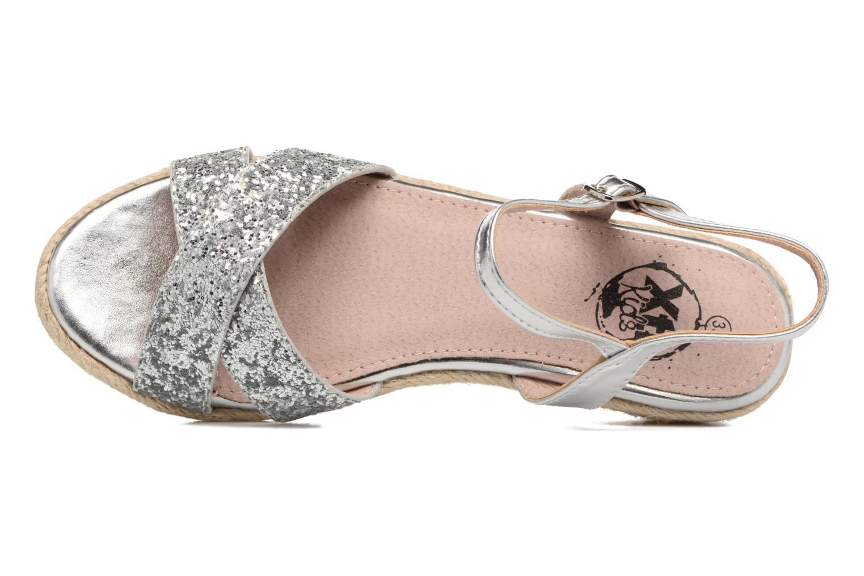 Sandales et nu-pieds Xti Aldana Argent vue gauche