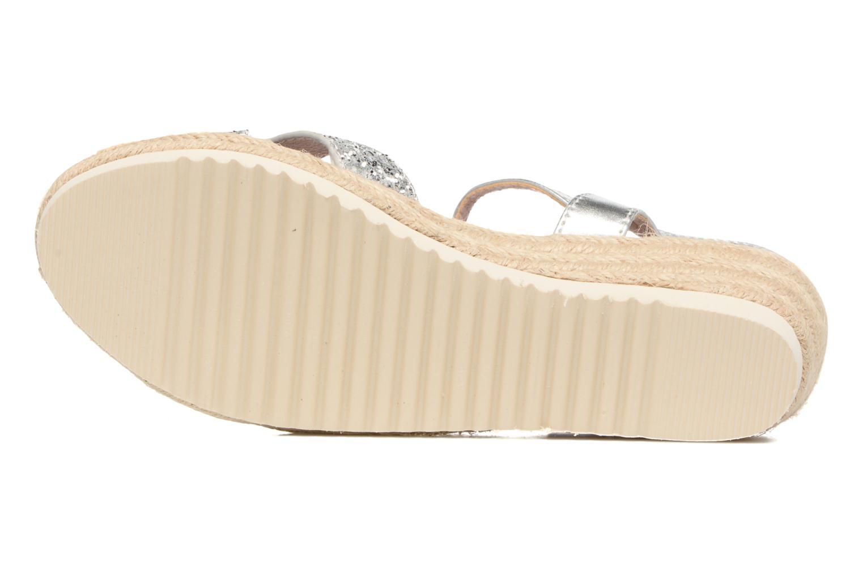 Sandales et nu-pieds Xti Aldana Argent vue haut