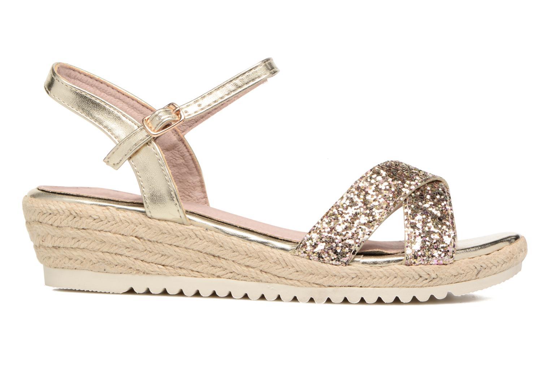 Sandales et nu-pieds Xti Aldana Or et bronze vue derrière