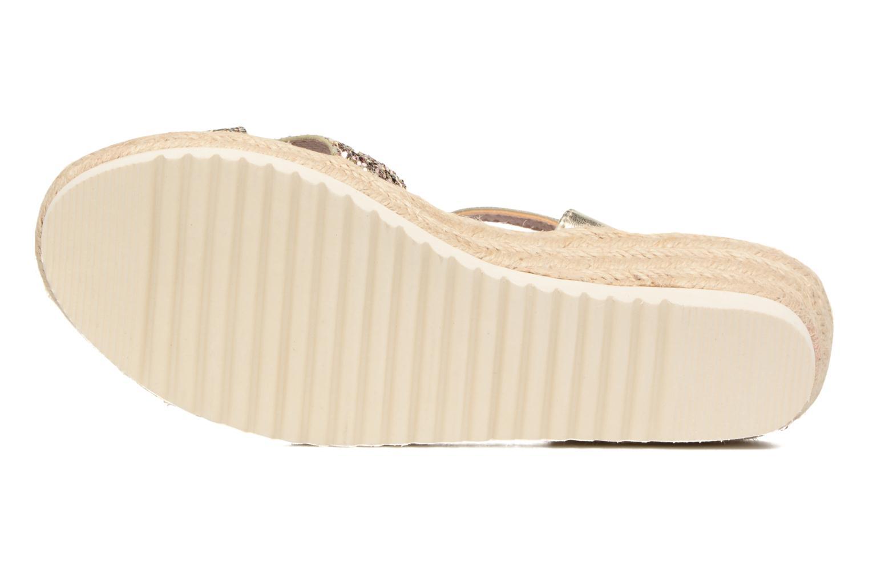 Sandales et nu-pieds Xti Aldana Or et bronze vue haut