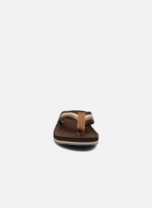 Tongs Xti Andio Marron vue portées chaussures
