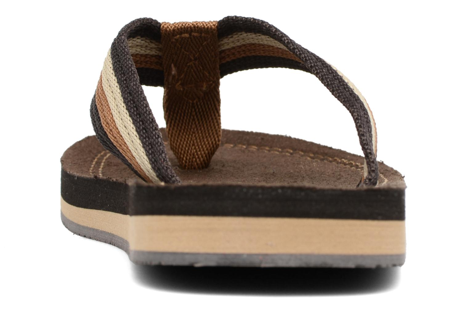 Flip flops Xti Andio Brown view from the right