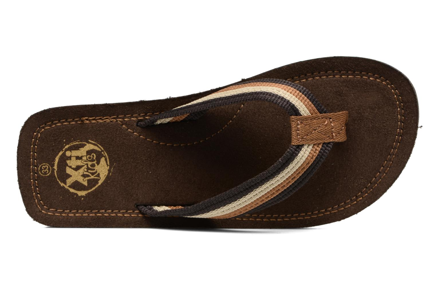 Flip flops Xti Andio Brown view from the left