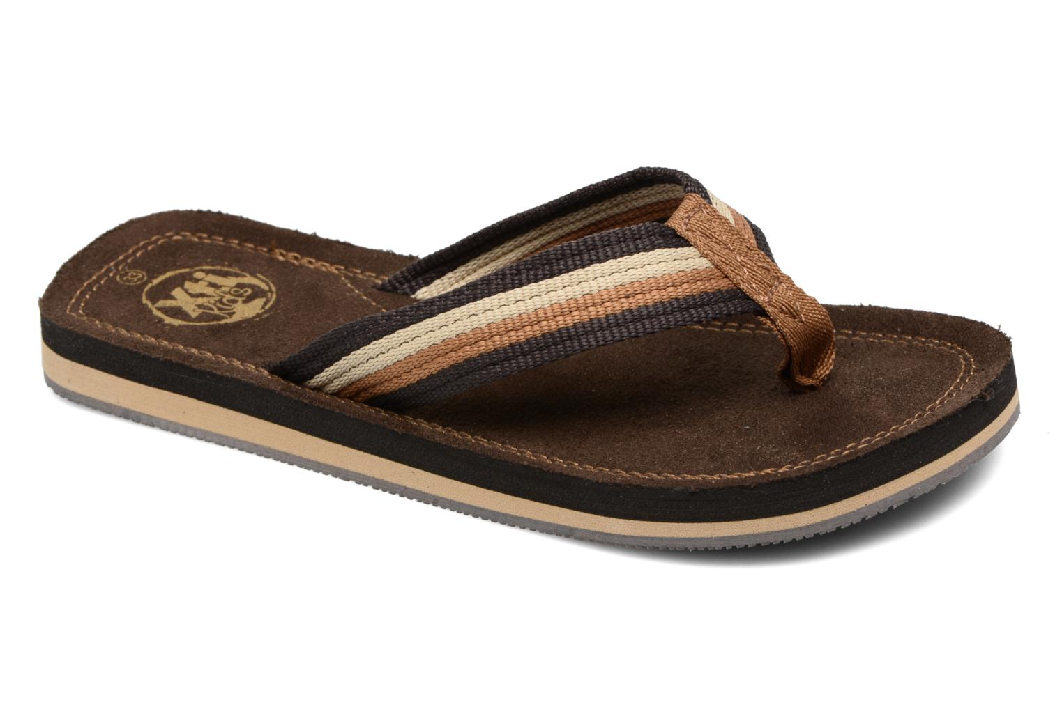 Flip flops Xti Andio Brown detailed view/ Pair view