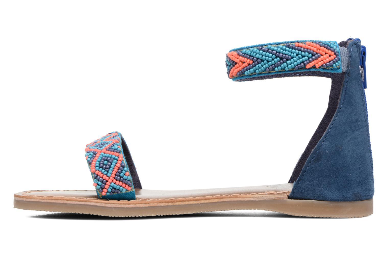 Sandales et nu-pieds Xti Brigida Bleu vue face