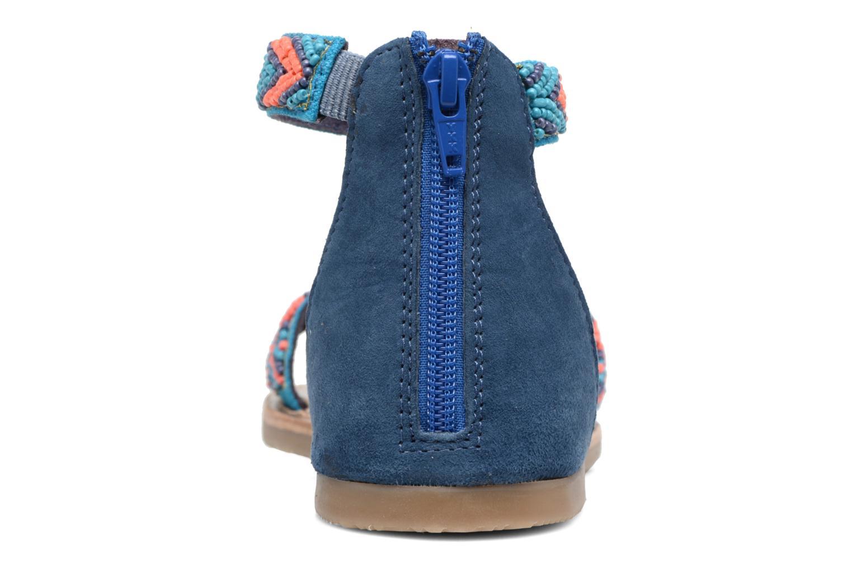 Sandales et nu-pieds Xti Brigida Bleu vue droite
