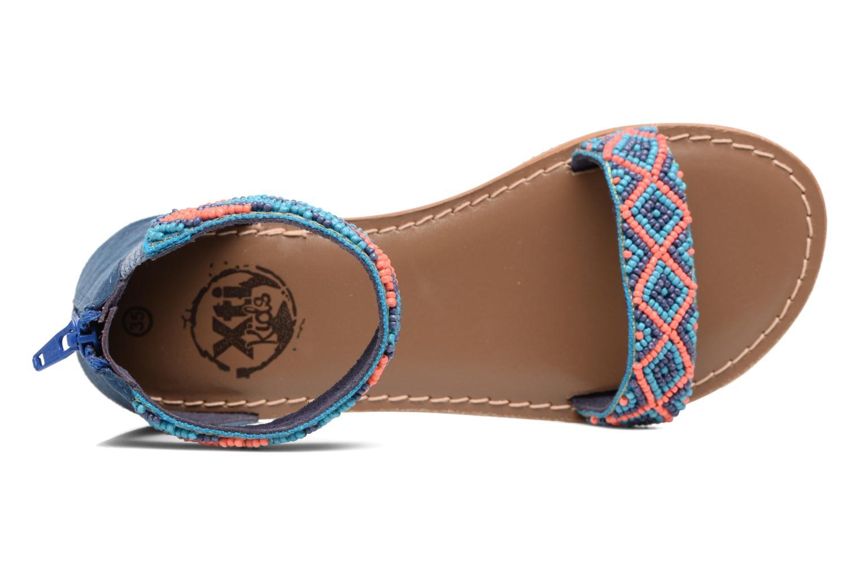 Sandales et nu-pieds Xti Brigida Bleu vue gauche