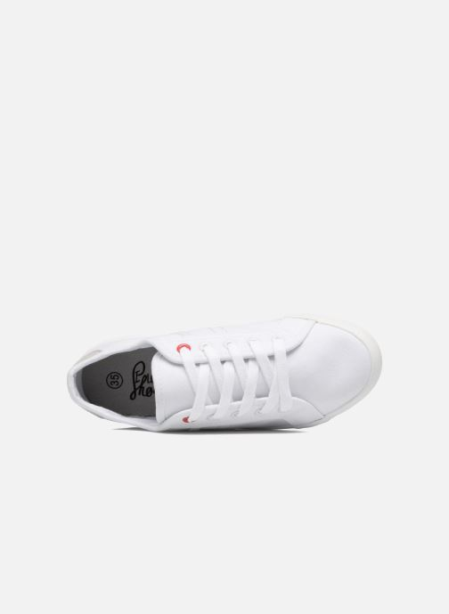 Baskets I Love Shoes GOLCEN Blanc vue gauche