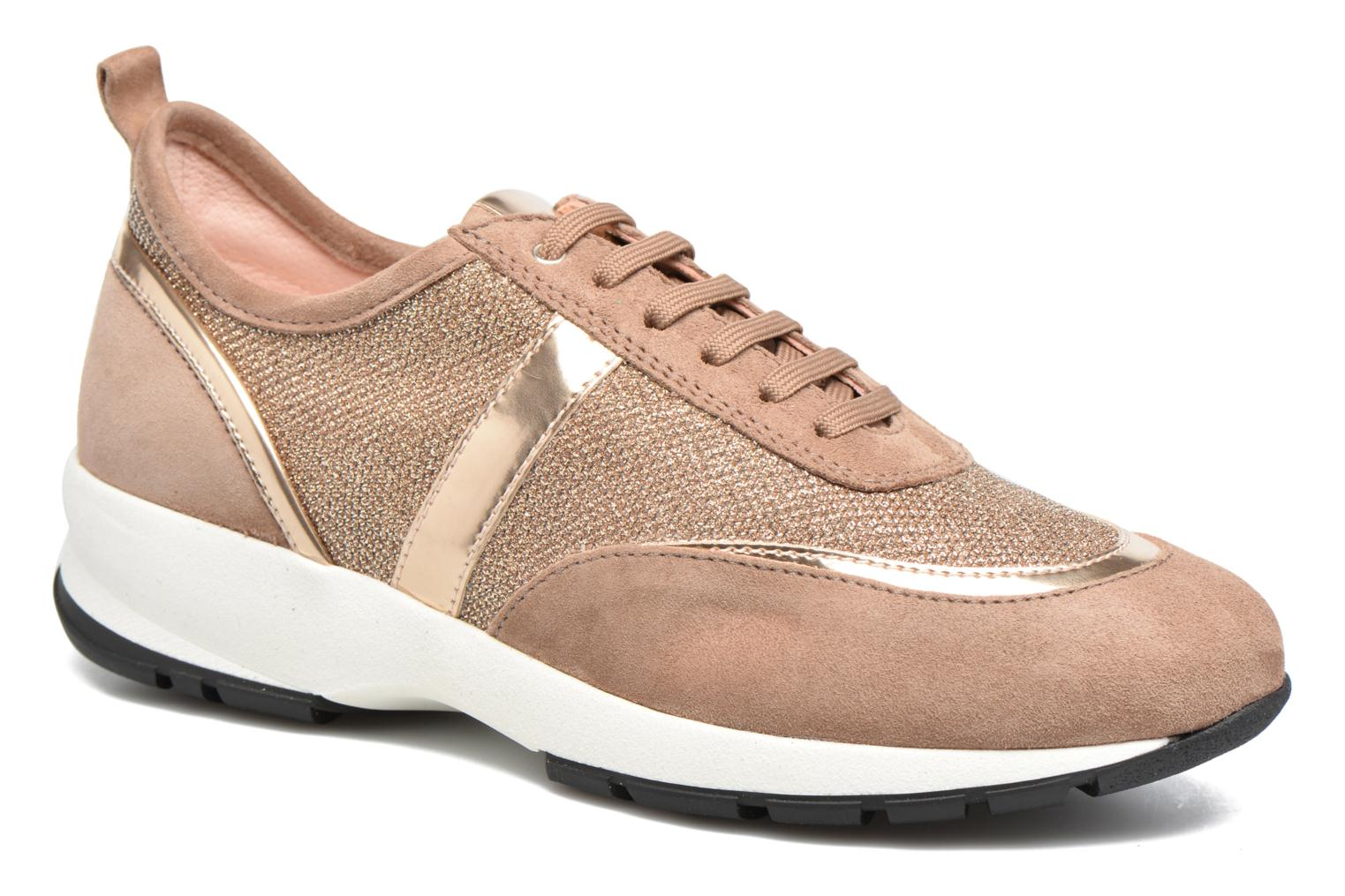 Trainers Unisa Elisa Bronze and Gold detailed view/ Pair view