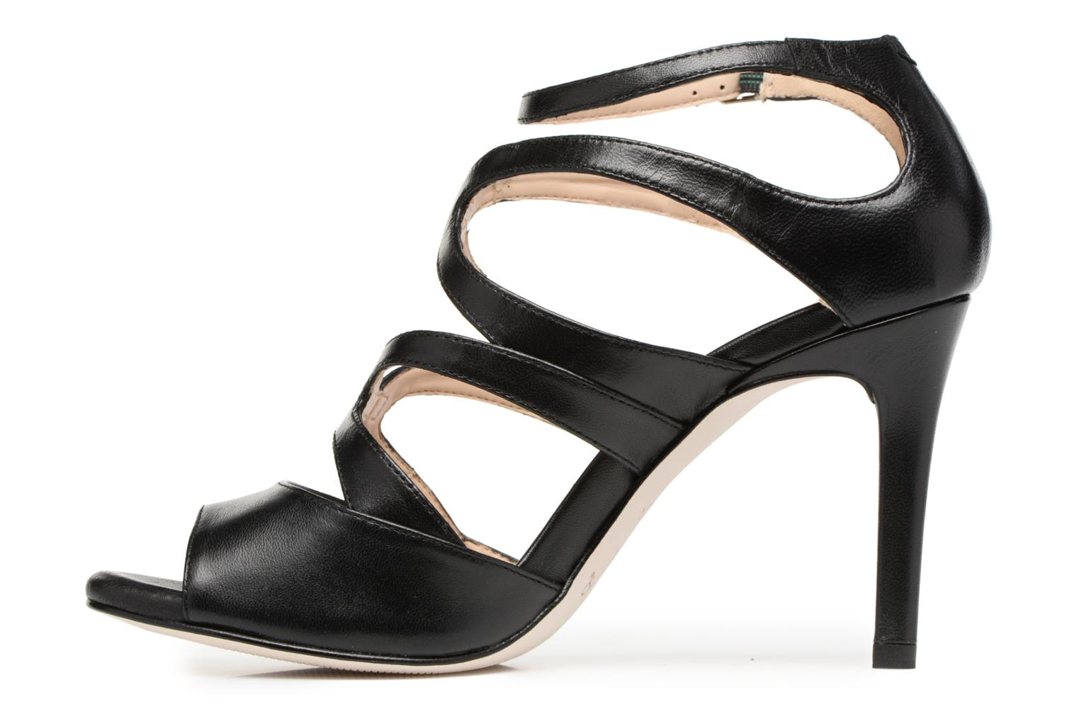 Sandals Unisa Wence Black front view