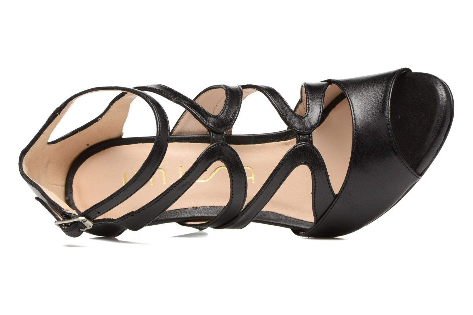 Sandals Unisa Wence Black view from the left