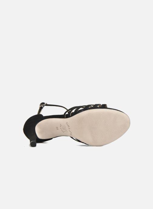 Sandales et nu-pieds Unisa Wamba Noir vue haut
