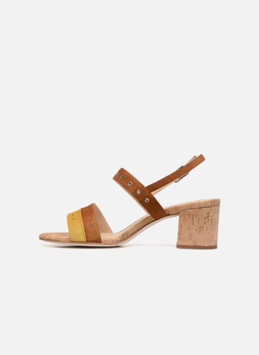 Sandales et nu-pieds Unisa Osea Marron vue face