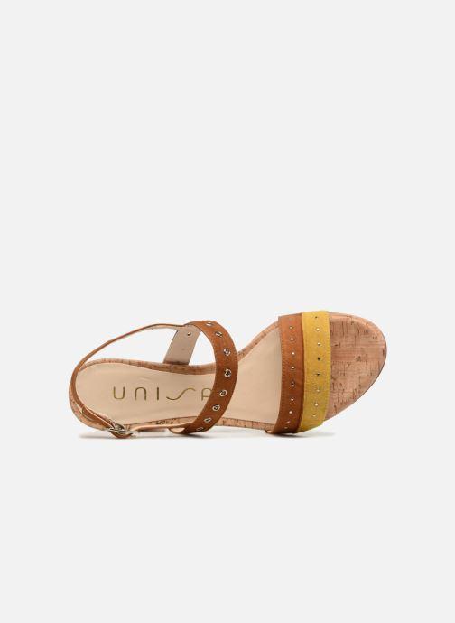 Sandales et nu-pieds Unisa Osea Marron vue gauche