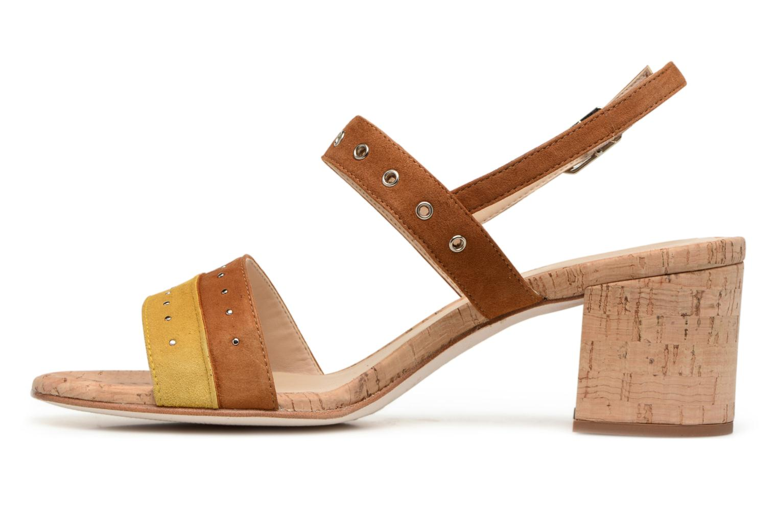 Sandals Unisa Osea Brown front view